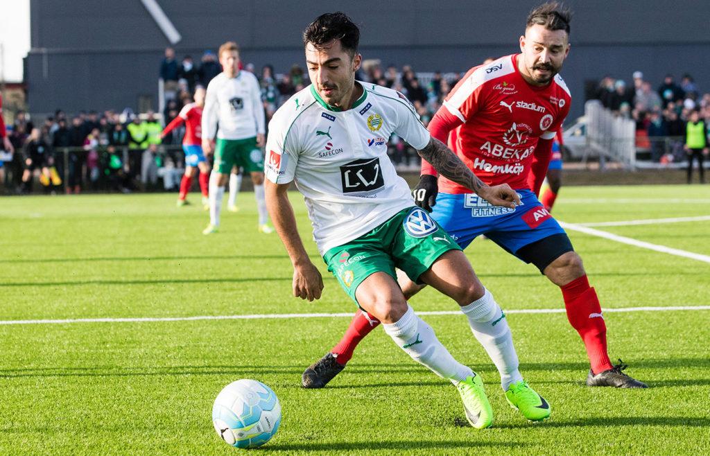 Jiloan i Hammarbys träningsmatch mot Nyköping. Foto: BILDBYRÅN
